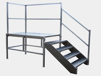 Flex-Step OSHA Aluminum Stairs