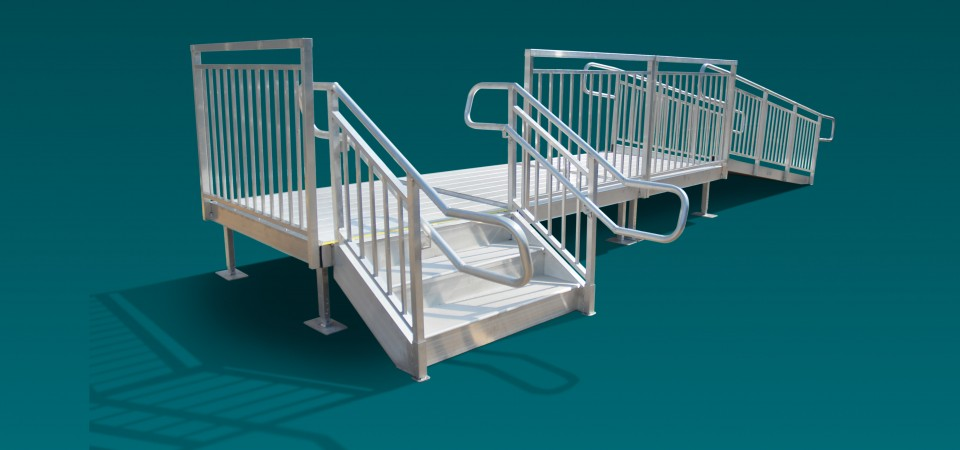 Metal Stairs and Ramp