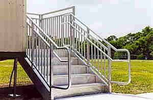 Metal Steps for Office Trailers