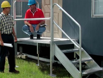 Dura-Grip OSHA Aluminum Stairs